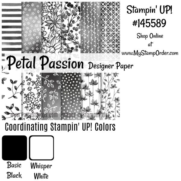 145589 Petal Passion designer paper from Stampin Up - shop online at www.MyStampOrder.com