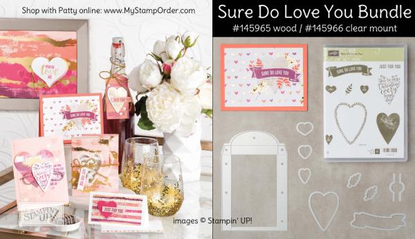 Sure Do Love You bundle from Stampin' UP! - shop online at www.MyStampOrder.com