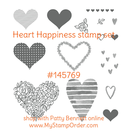 145769 Heart Happiness stamp set from Stampin Up - shop online at www.MyStampOrder.com