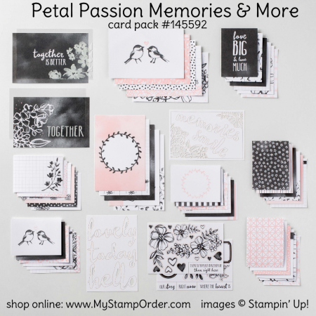 145592 Memories and More Petal Passion Card Pack from Stampin Up - shop online at www.MyStampOrder.com