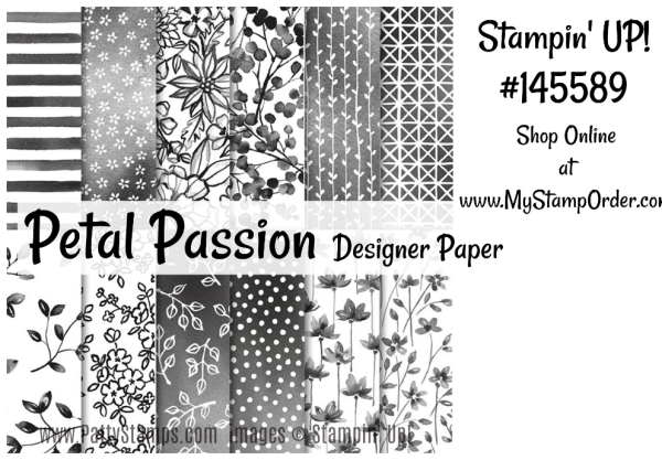 2018 Occasions catalog Petal Passion paper from Stampin' Up!. Shop #145589 in my online store: www.MyStampOrder.com