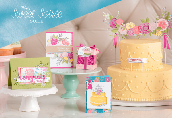 Sweet Soiree suite of products from Stampin' UP! perfect for birthday cards, wedding cards and invitations, showers, parties and more!