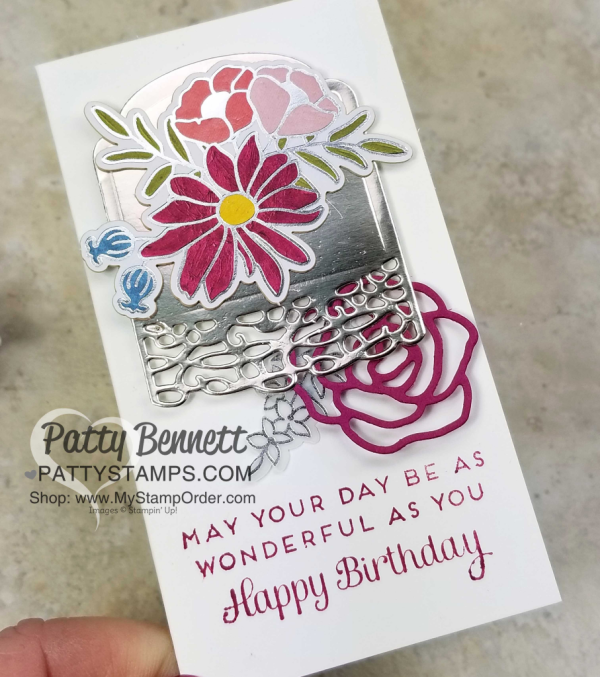 Sweet Soiree birthday card idea. Stampin' UP! Occasions catalog 2018.  by Patty Bennett