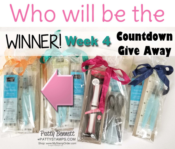 Who will win the week #4 giveaway for my Countdown to $1.5 million in Stampin' UP! sales!?