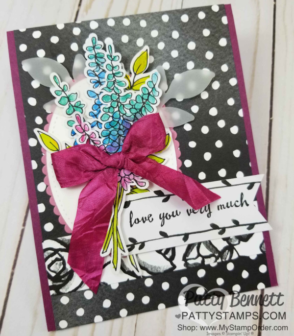 Alternate card idea for Lots of Happy card kit from Stampin' UP! creates 20 cards with envelopes. Includes supplies, stamp set and watercolor pencils!  cards by Patty Bennett
