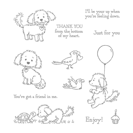 141867 Bella & Friends stamp set from Stampin' Up! available online at www.MyStampOrder.com