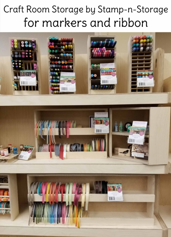 Sta,mp-n-Storage craft room organization for makers and ribbon