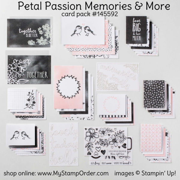 145592 Memories and More Petal Passion Card Pack from Stampin UP!.. shop online at www.MyStampOrder.com