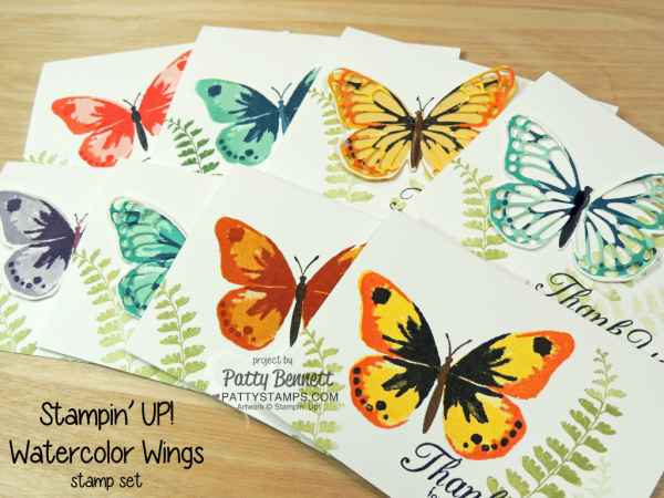 Stampin' Up! Watercolor Wings butterfly stamp set - retiring May 2018