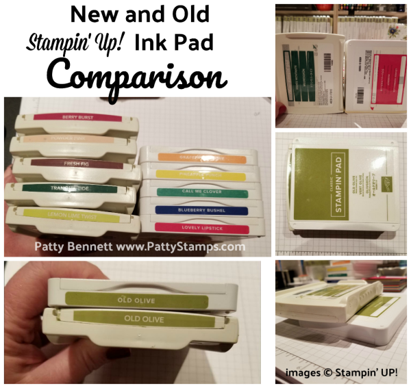 Comparing the Old and New style Stampin' Up! Ink Pads with Patty Bennett.