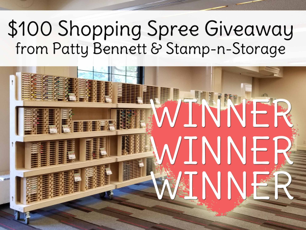 Stamp n storage craft room organization shopping spree giveaway april 2018 pattystamps winner