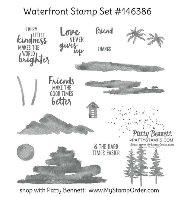 146386 Stampin' Up! Waterfront stamp set.  Order online: www.MyStampOrder.com