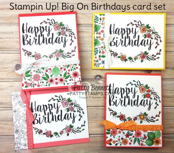 Stampin' UP! Big on Birthdays stamp set and card ideas - retiring stamp set May 2018