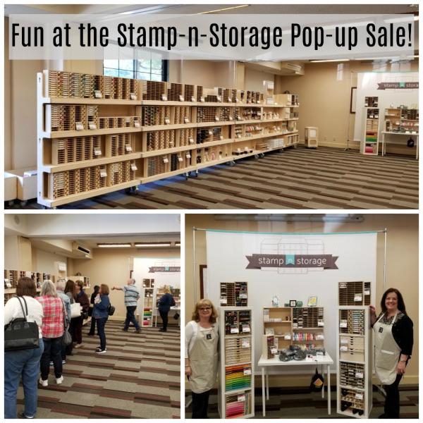 Stamp-n-Storage pop up sale, Pleasanton CA, March 2018 - craft room storage solutions