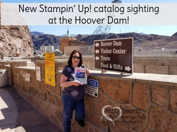 New 2018-2019 Stampin' UP! Catalog sighting at the Hoover Dam!