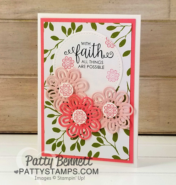 Ribbon of courage kit note card stampin up pattystamps faith flowers