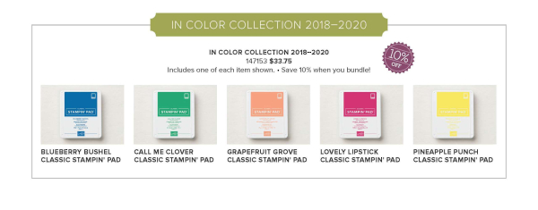 2018 2020 in color ink pad preorder 10 percent off stampin up pattystamps