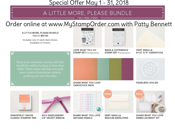 Stampin' Up! Share What You Love A Little More, Please bundle preorder offer