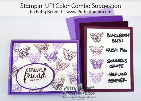 Stampin up color revamp 2018 purple combo purples pattystamps