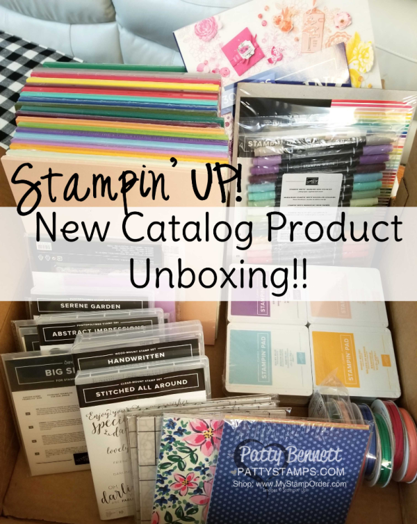 New 2018-2019 Stampin' Up! catalog preorder unboxing video from Patty Bennett