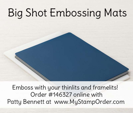 146327 Big Shot Embossing mats allow you to emboss with your Stampin' UP! framelits and thinlits! shop online at www.MyStampOrder.com