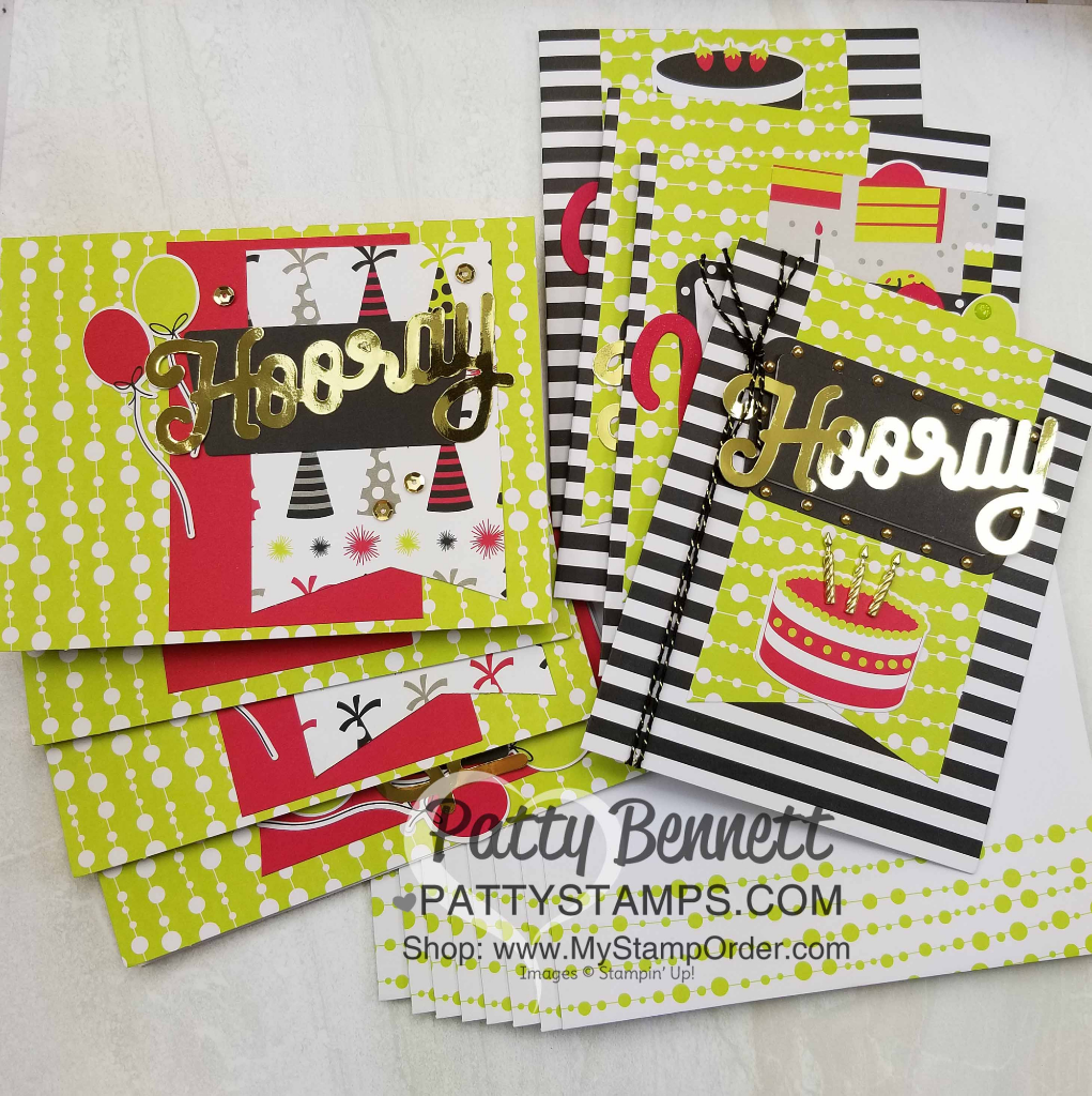 Broadway Bound Suite Of Stampin Up Products Combined With The June 2018 Paper Pumpkin