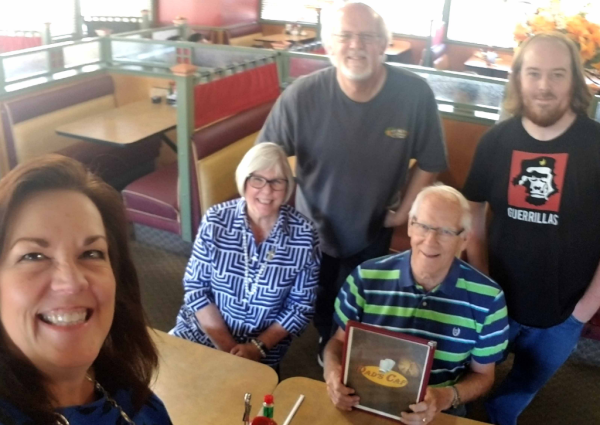 Bennett family - Father's Day 2018, Dad's Cafe