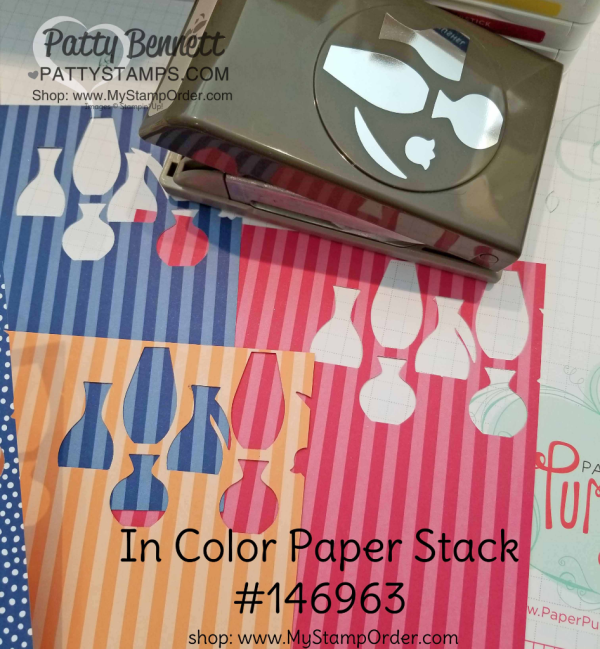 Varied Vases In Color Stampin' Up! cards by Patty Bennett, www.PattyStamps.com