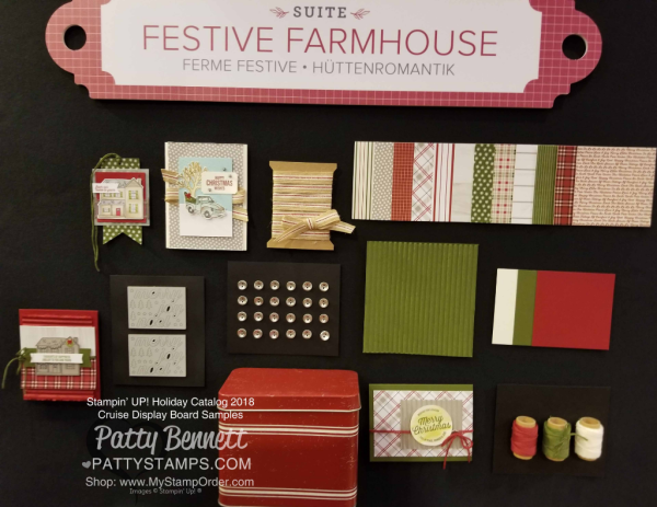 Stampin Up! Holiday Catalog 2018 preview Festive Farmhouse suite papercrafting supplies www.PattyStamps.com