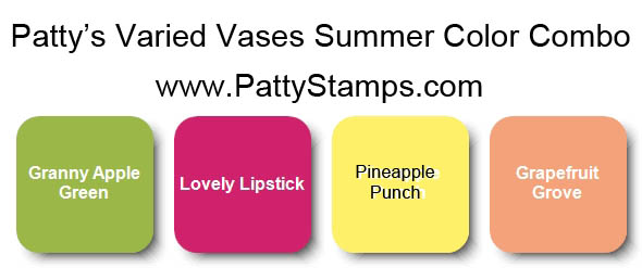 Stampin' UP! summer color combo PattyStamps.com