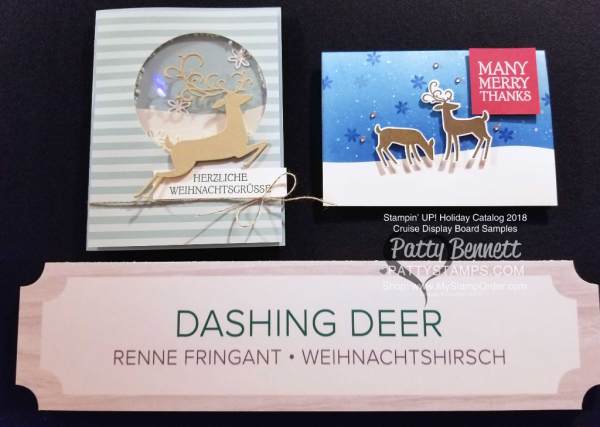 Stampin Up! Holiday Catalog 2018 preview Dashing Deer bundle www.PattyStamps.com