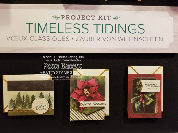 Stampin Up! Holiday Catalog 2018 preview Timeless Tidings Christmas Card kit  www.PattyStamps.com