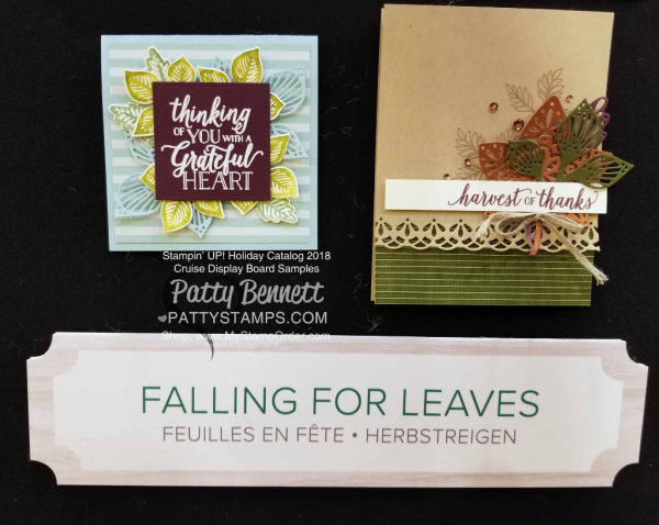 Stampin Up! Holiday Catalog 2018 preview Falling for Leaves bundle www.PattyStamps.com
