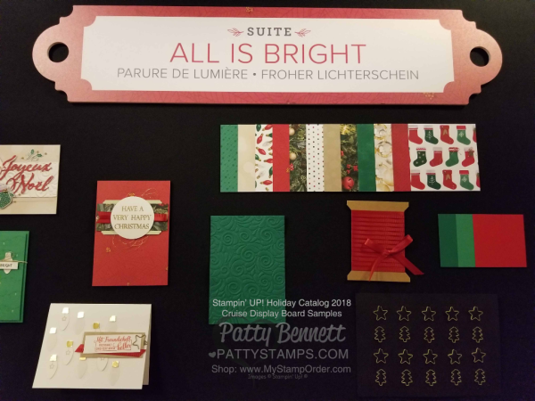 Stampin Up! Holiday Catalog 2018 preview All is Bright Christmas papercrafting supply suite  www.PattyStamps.com