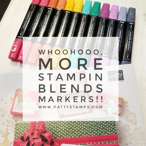 Coming Sept. 5, 2018, NEW Stampin' Blends marker colors!! order at www.MyStampOrder.com