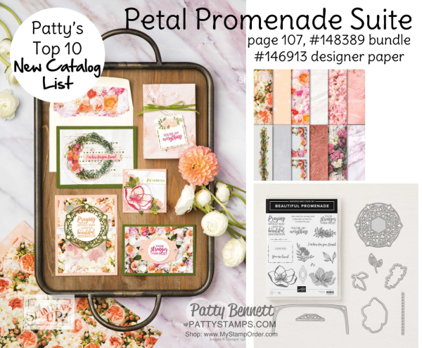 Stampin' UP! Petal Promenade Suite paper craftting floral products available at www.MyStampOrder.com
