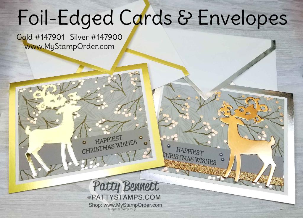 Reindeer Christmas Cards Ideas.Gold And Silver Edge Dashing Deer Christmas Card Ideas