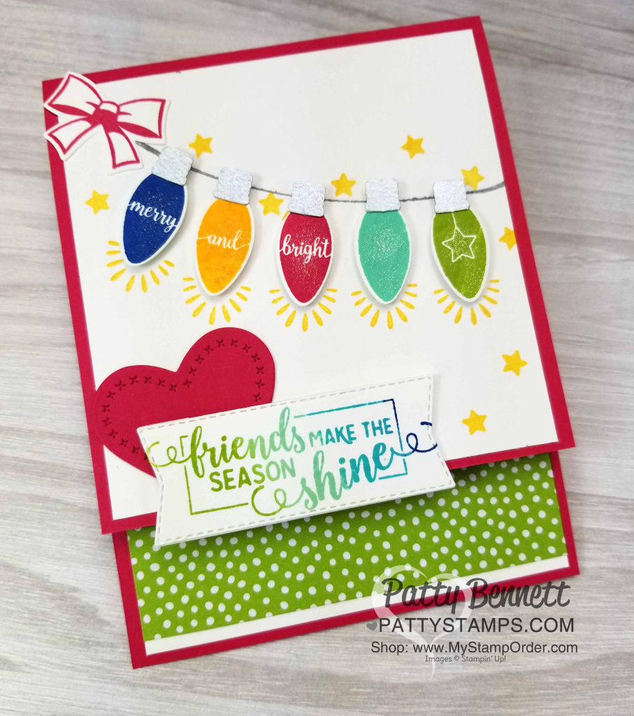 Making Christmas Bright Card Idea using punches - Patty Stamps