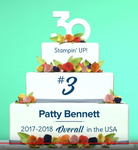 Patty Bennett #3 overall USA 2017-2018 Stampin' Up! demonstrator