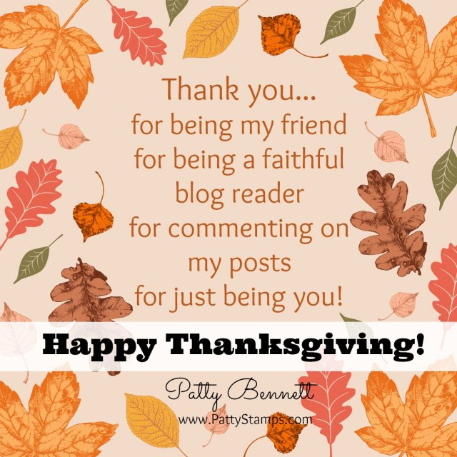 Happy Thanksgiving from the Bennett family to yours!