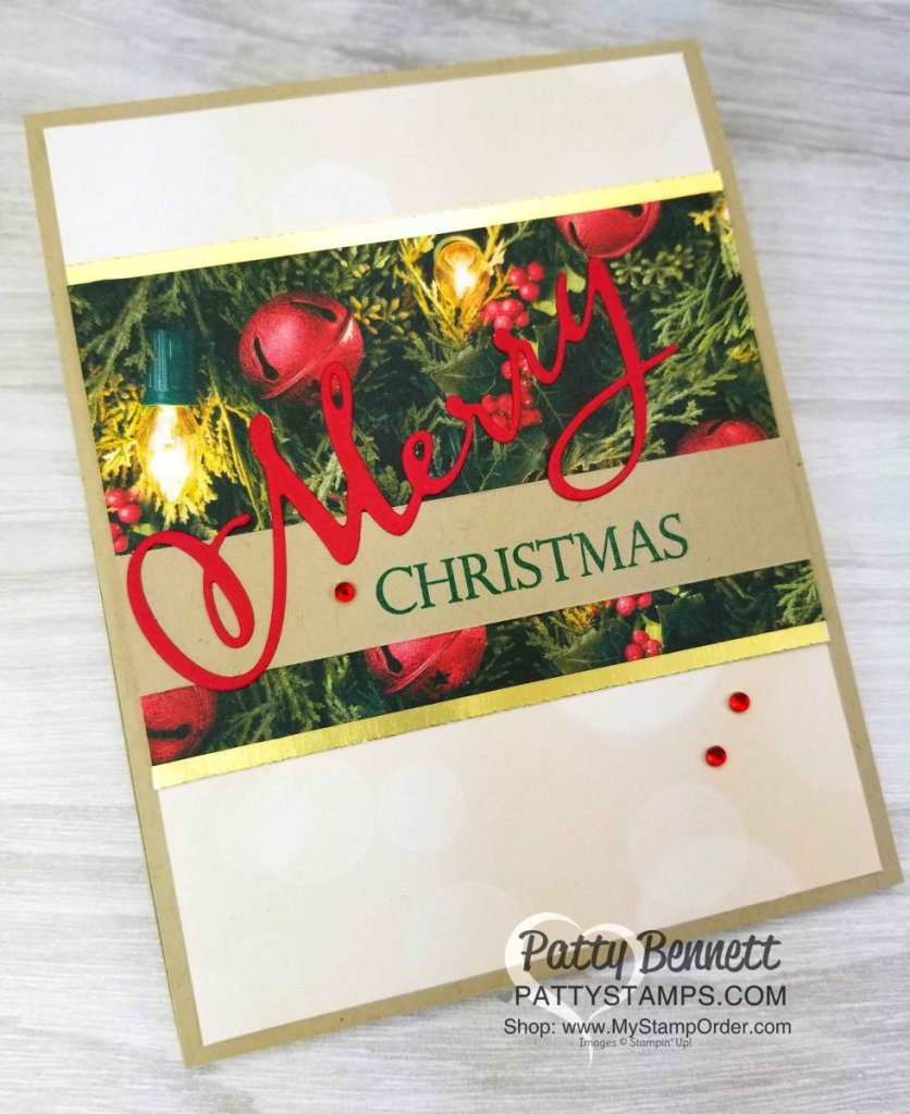 Merry Christmas to all Stampin' Up! stamp set and thinlit dies Christmas / Holiday