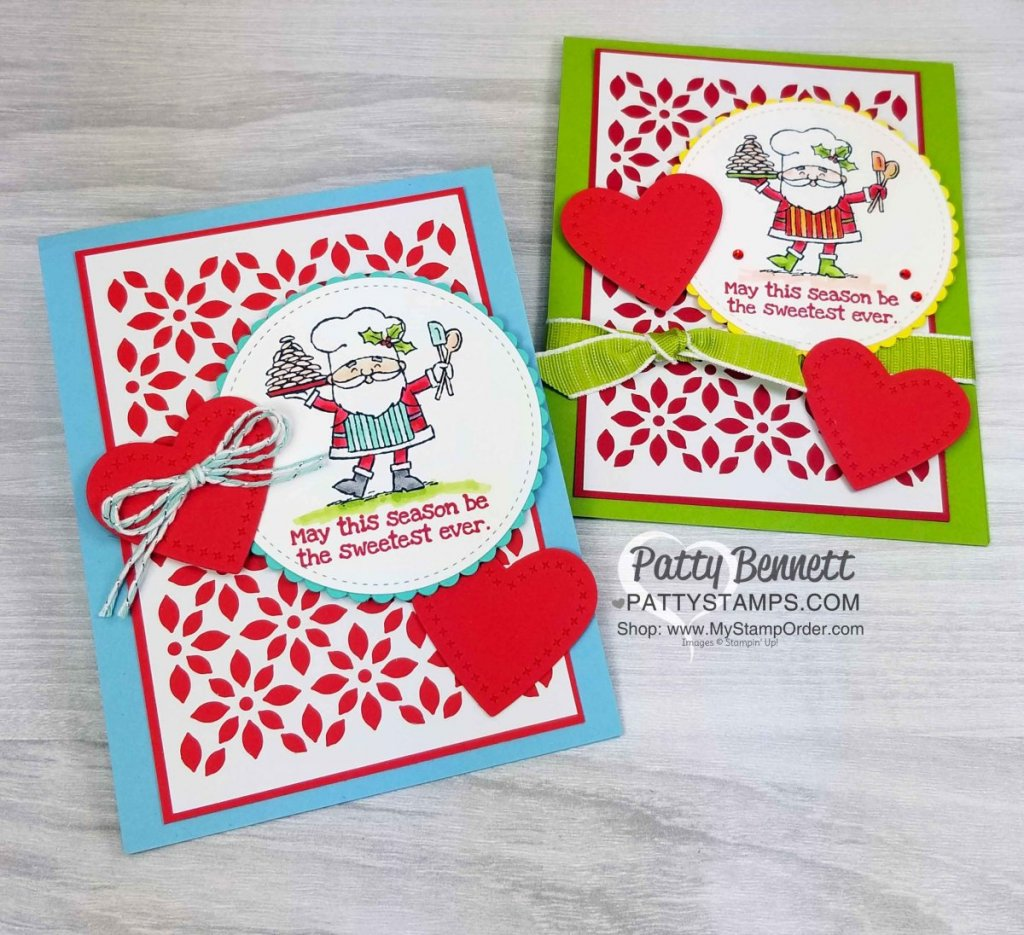 So Santa Christmas Card Ideas with Stampin' Blends