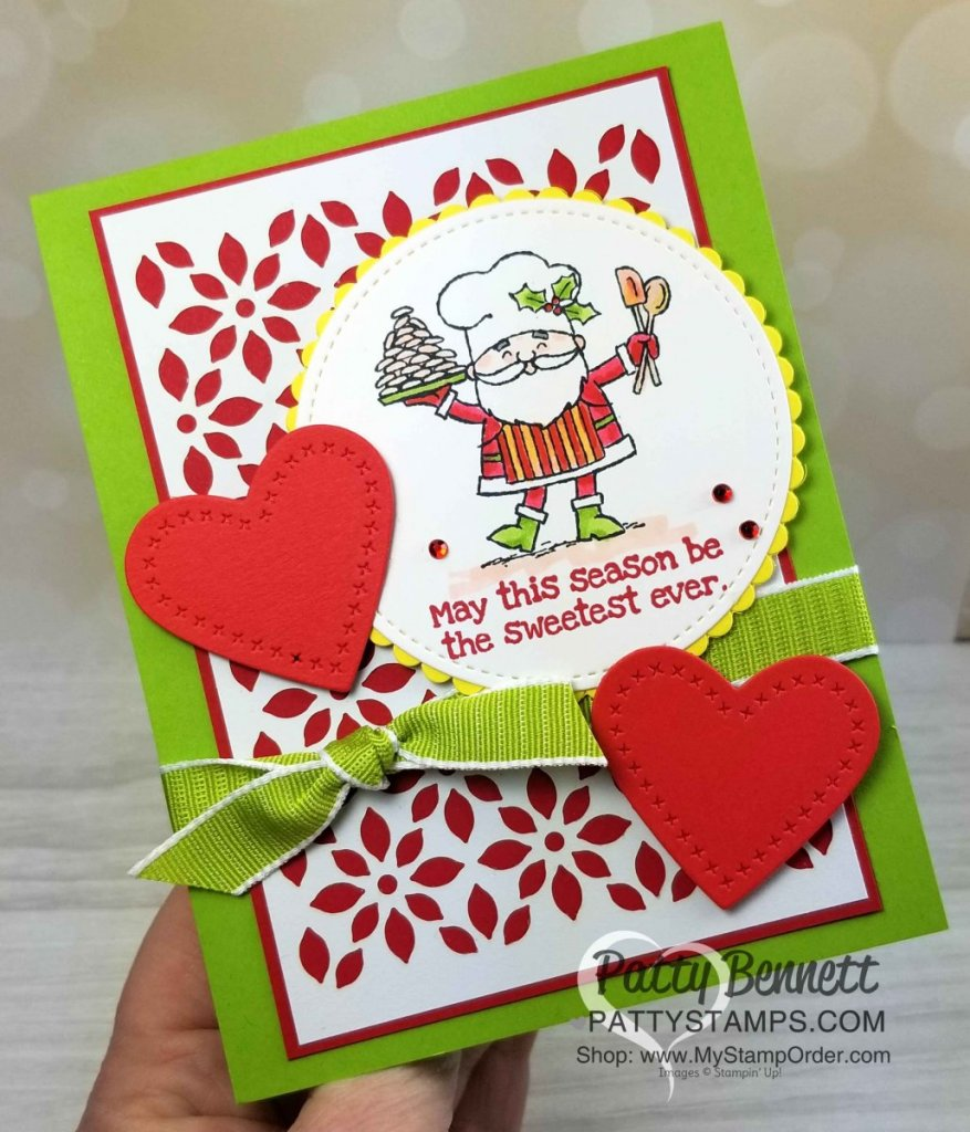 So Santa Christmas Card Ideas with Stampin\' Blends - Patty Stamps