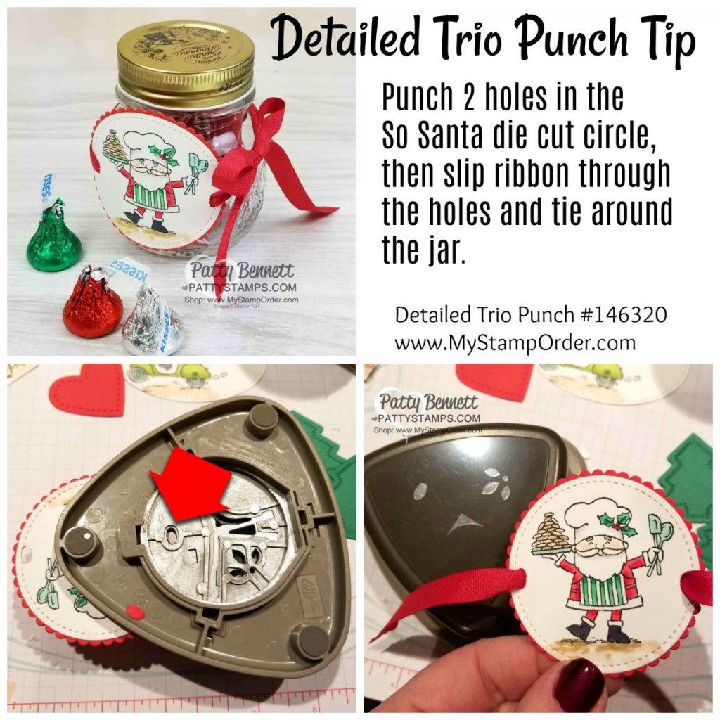 So Santa Detailed Trio Punch Tip Stampin Up Pattystamps Neighbor