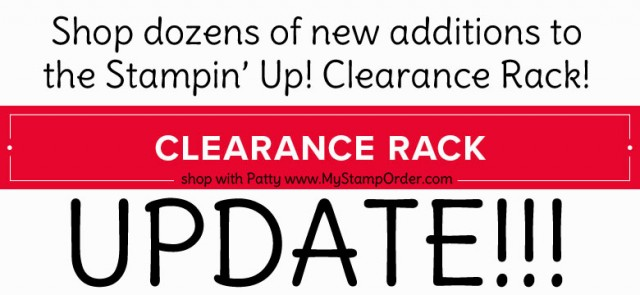 Shop the Stampin' UP! Clearance Rack online - discounted paper crafting and rubber stamping supplies. Shop with Patty www.MyStampOrder.com
