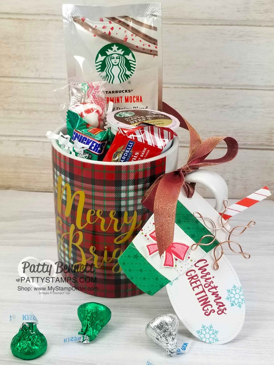 Starbucks Peppermint Mocha Latte coffee cup gift idea. Perfect neighbor gift coworker gift or & Starbucks Peppermint Mocha Latte Coffee Cup Gifts - Patty Stamps