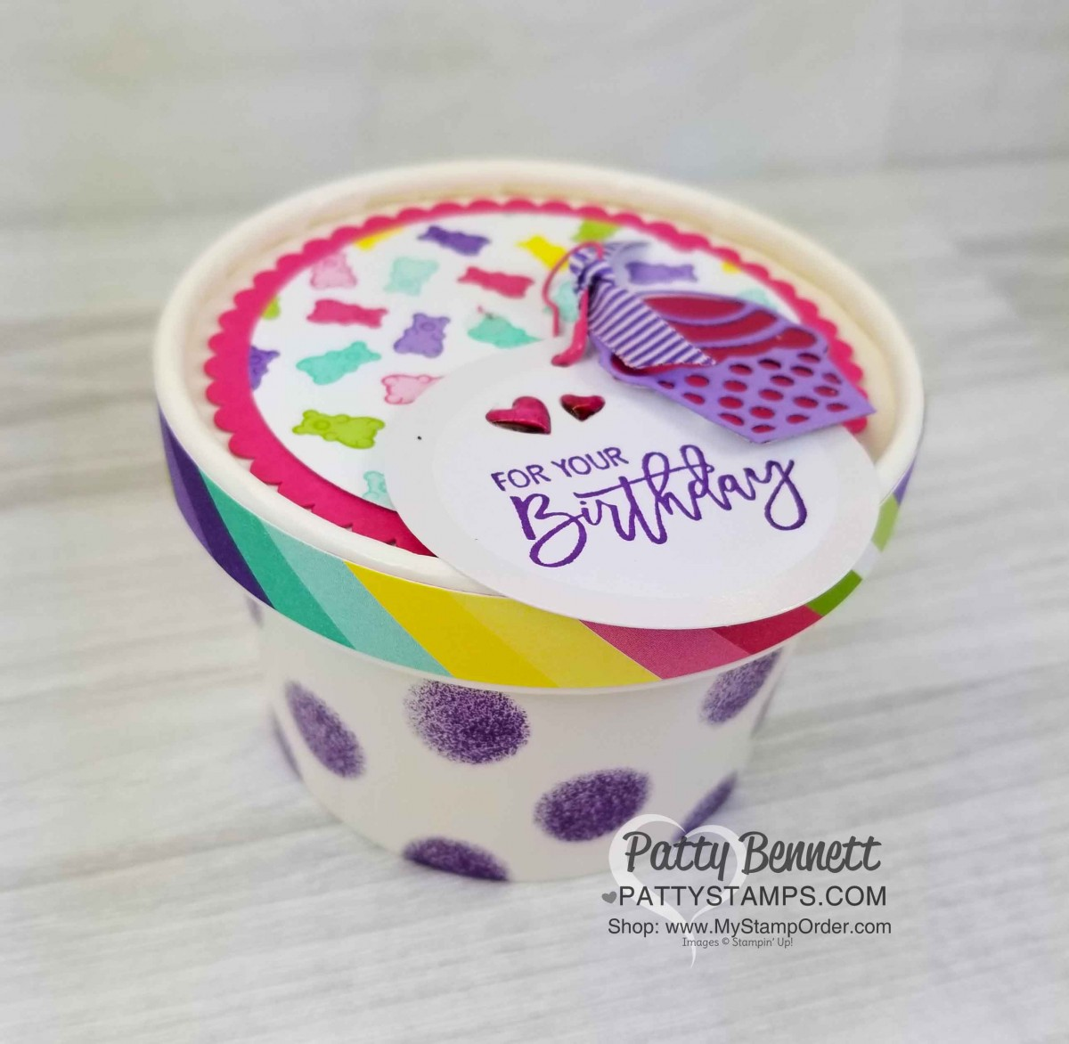 Sweet Cup Birthday Party Favor Idea
