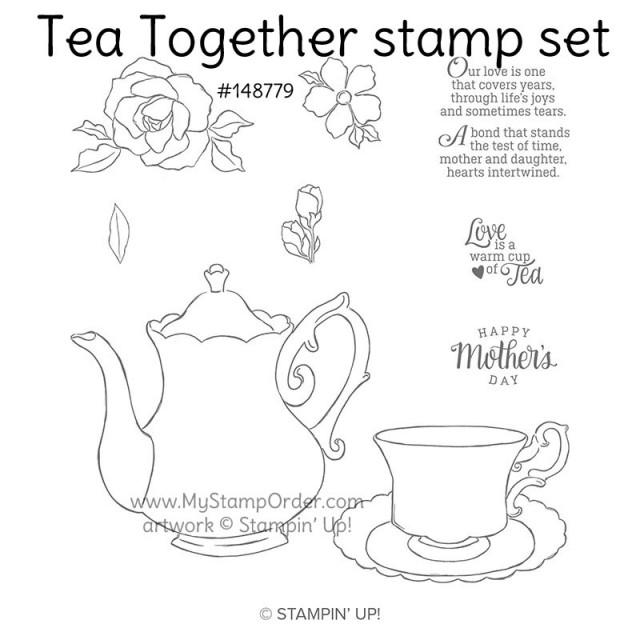 Stampin' UP! Tea Together stamp set #148779 www.PattyStamps.com