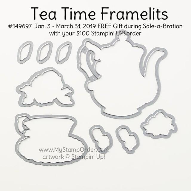 Stampin' UP! Tea Time Framelits set #149697 www.PattyStamps.com