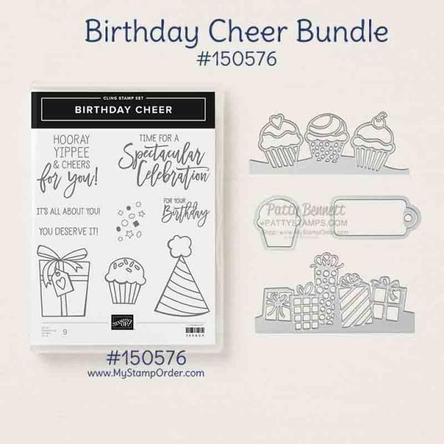 Stampin' UP! Birthday Cheer Bundle. Shop Online with Patty Bennett www.MyStampOrder.com #150576